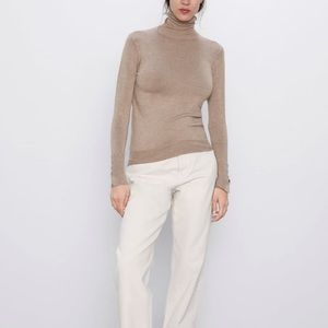 Zara Turtleneck Beige Sweater